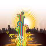 Abstraiga la ciudad libre illustration