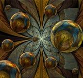 Abstraiga la composición del fractal Fotografía de archivo libre de regalías