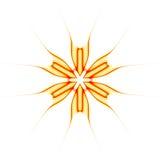 Abstraiga la estrella ilustrada anaranjada Imagen de archivo libre de regalías
