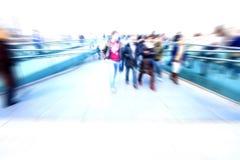 Abstraiga a la gente sobre hora punta Fotografía de archivo
