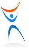 Abstraiga la insignia/el icono humanos del silhuette stock de ilustración