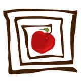 Abstraiga la manzana libre illustration
