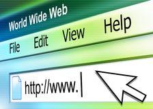 Abstraiga la pantalla del direccionamiento de la búsqueda del Internet stock de ilustración