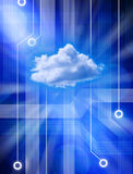 Abstraiga la red de computación de la nube Fotografía de archivo libre de regalías