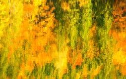 Abstraiga la reflexión colorida del bosque en agua Fotografía de archivo libre de regalías
