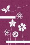 Abstraiga la tarjeta floral ilustración del vector