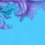 Abstraiga las cortinas sutiles del fondo del modelo azul, verde y púrpura stock de ilustración