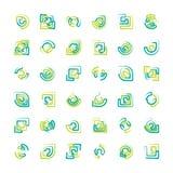 Abstraiga las insignias Foto de archivo libre de regalías