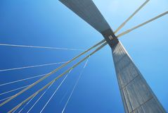 Abstraiga las líneas del puente Foto de archivo libre de regalías