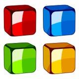 Abstraiga los cubos de cristal Fotografía de archivo