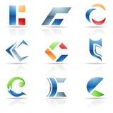 Abstraiga los iconos para la letra C Imagen de archivo libre de regalías