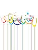 Abstraiga los vidrios de vino del alcohol del fondo de la bebida Libre Illustration