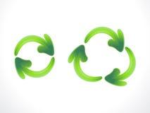 Abstraiga reciclan y restauran el icono Imágenes de archivo libres de regalías