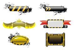 Abstrait ; application ; blanc ; noir ; jaune Photographie stock libre de droits