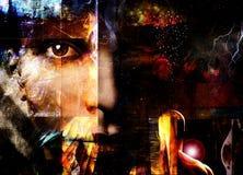 Abstrait avec le visage Image libre de droits
