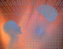 Abstrait binaire avec la figure Photographie stock