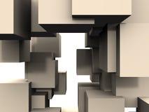 Abstrait - connexions de cube Images stock