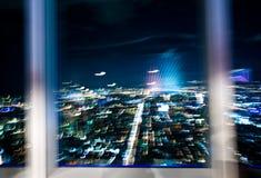 Abstrait de ville de Taïpeh la nuit Image stock