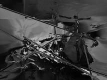Abstrait en plastique noir Photos libres de droits