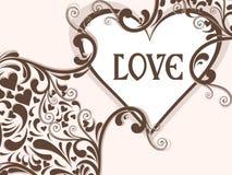 Abstrait excellent avec des milieux d'amour illustration libre de droits