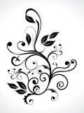 Abstrait floral avec la courbe Image libre de droits