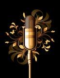 Abstrait floral avec le microphone Photographie stock libre de droits