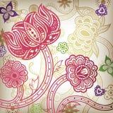 Abstrait floral oriental Photos libres de droits