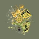 Abstrait, géométrique, graphique, fond de couleur de cyber, ligne Illustration Libre de Droits