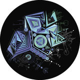 Abstrait, géométrique, graphique, fond de couleur de cyber, ligne Illustration de Vecteur