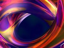 Abstrait liquide spiralé Image stock