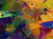 Abstrait peint illustration de vecteur