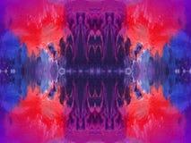 Abstrait peint coloré Image libre de droits
