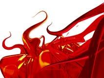 Abstrait rouge Photos libres de droits