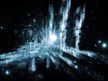 Abstrait tridimensionnel dynamique Photo stock