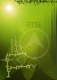 Abstrait vert, financier Images libres de droits