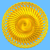 abstrakci colour złota wzór Ilustracja Wektor