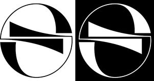 Abstrakci okrąg odizolowywający i przeciw ciemnemu tła projekta biznesu logowi Zdjęcie Royalty Free