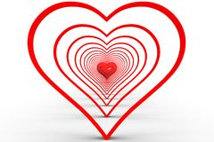 Abstrakci serce Zdjęcie Stock