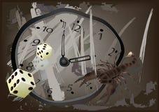 abstrakci sześcianów godzina Obrazy Stock