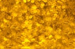 Abstrakcj złoci światła Fotografia Stock