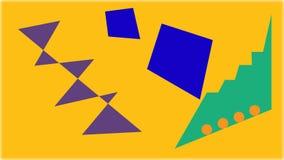 Abstrakcja geometryczni kształty na tle Obrazy Stock