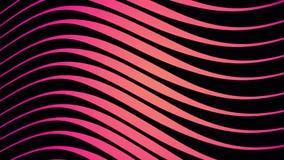 Abstrakcja hipnotyczne gradient menchie, czerń i macha obracanie Geometryczny linia wzor?w ruchu t?o ilustracji