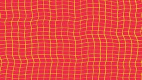 Abstrakcja hipnotyczny kolor żółty i czerwień macha obracanie Zatrzymuje ruch animacj? Geometryczny linia wzorów ruch bezszwowy royalty ilustracja