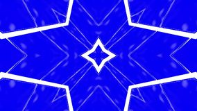 Abstrakcja kalejdoskopu błękitna biała animacja 3 d czyni? ilustracji