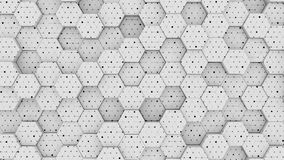 Abstrakcja roju sześciokąta geometrycznego terenu siatki falowania ruchu jaskrawy czysty tło ilustracji
