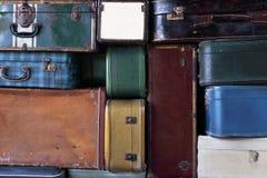 Abstrakcja widok walizki Obrazy Stock