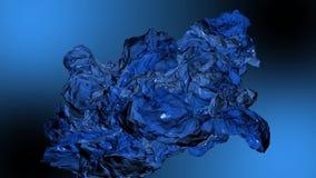 Abstrakcji substancji bez przeszkód ruchy niebieska tła royalty ilustracja