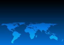 Abstrakcjonistyczna światowej mapy ilustracja niektóre elementy ten ima ilustracja wektor