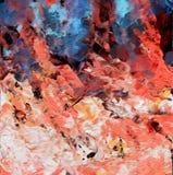 Abstrakcjonistyczna acrilyc grafika Akrylowe fala Zdjęcia Stock
