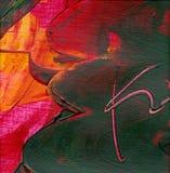 abstrakcjonistyczna akrylowa grafika Zdjęcie Stock